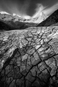 Cordillera Blanca, Mountain, Cracks, Mud Cracks, Peru, Andes, Huaraz, Mountain