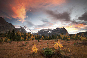 Heaven, Assiniboine, Canadian Rockies, Rocky Mountains, Sunset
