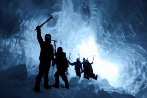 Teamwork, Ice Cave, Mt. Baker, Climbing, Teamwork