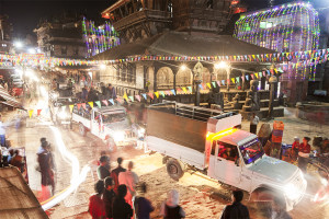 A full blown party in Bhaktapur, Nepal
