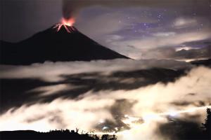 Volcano, eruption, lava, banos, ecuador, Andes