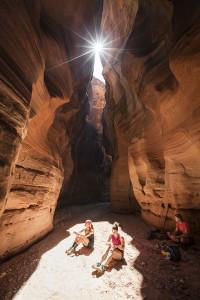 Adventure, Slot Canyon, Sunburst, Exploration, Paria Canyon, Buckskin Gulch