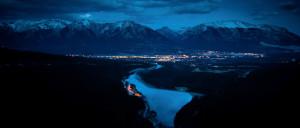 Canmore, Alberta, Canadian Rockies, Nighttime, Calming