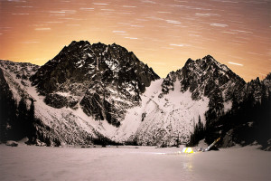 Dragontail, Enchantments, Winter Camping, Star Trails, Mountain, Mountain Camping,