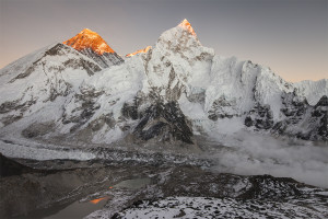 Mt. Everest, Everest, Sunset, Kala Pattar, Everest Base Camp, Nepal, Himalayas