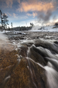 Yellowstone, Firehole River, Geysers, landscape