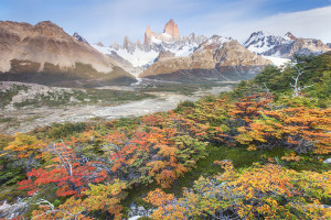 Fitz Roy, Fall Colors, Autumn, Patagonia, El Chalten, Argentina, Andes