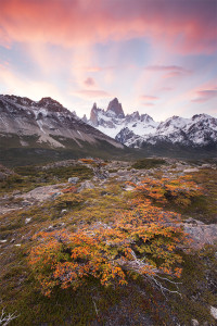 Fitz Roy, Sunset, Mountain, Fall in the Mountains, El Chalten, Patagonia, Heaven