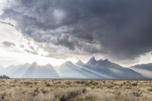 Grand Teton, Tetons, Jackson, Jackson Hole, Rays of Light, Storm