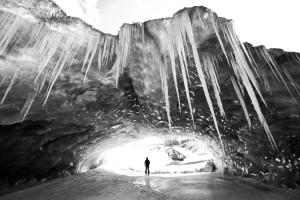 Ice Cave, Icicles, Glacier, Skiing, Ski, Wapta Traverse