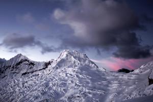 Glaciers, Cordillera Blanca, Andes, Peru, Sunset, Mountains
