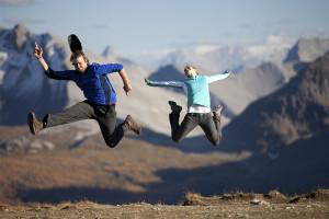 Happy, Happiness, Joy, Jumping for Joy, Assiniboine, Mt. Assiniboine