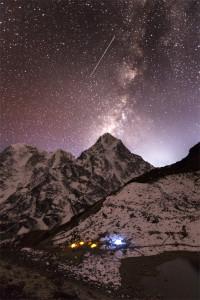 Milky Way, Stars, Mountains, Base Camp, Everest Base Camp, Nepal, Himalaya