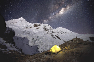 Milky Way, Mountaineering, Climbing, Cordillera Blanca, Tocllaraju, Cordillera Blanca, Stars