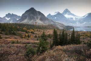 Moonrise, Assiniboine, Mountains, Banff,