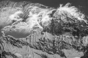 Peru, Mountain, Black and White, Cordillera Blanca, Alpine, Huaraz