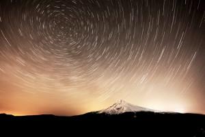 Mt. Hood, Mount Hood, Portland, Stars, North Star, Star Trails
