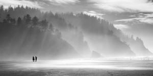 Peaceful, Walking, Beach, Oceanside, Coastal, Meditation, Togetherness