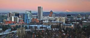 Portland, Mt. Hood, Winter, Panoramic, Oregon,