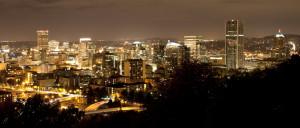 Portland, Nighttime, Dark, Oregon