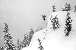 Skiing, Powder, Snowing, Backcountry Skiing, Alpine Touring, Snowstorm, Cascades, Fun, Joy