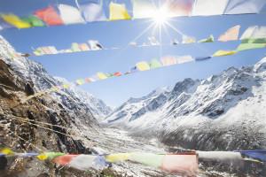 Prayer Flags, Rolwaling, Himalaya, Nepal, Himalayas