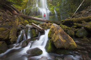 Proxy Falls, Waterfall, Adventure, Exploration, Standing Tall, Courage