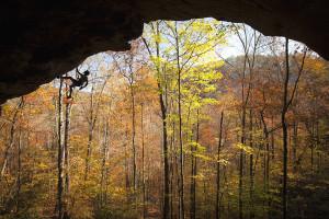 Rock Climbing, Red River Gorge, Climber, Success, Autumn