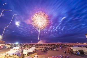 Fireworks over Rockaway Beach, Oregon