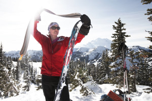 backcountry skiing, washington, crystal pass, skinning, alpine touring, skiing