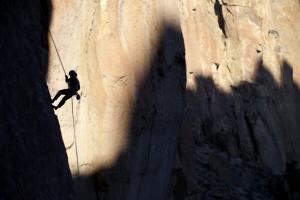 Rock Climbing, Smith Rock State Park, Smith Rock, Silhouette, Mountaineering, Climb