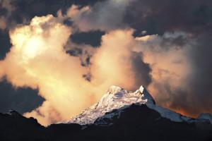 Vallunaraju, Mountain, Alpine, Cordillera Blanca, Huaraz, Peru, Sunset, Beautiful