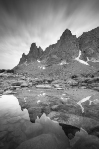 Mountain Reflection, Reflection, Mountain, Storm, Approaching Storm, Cirque of the Towers, Wind River Range