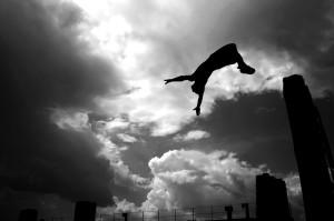Backflip, Swimming, Jumping, Flying, Joy, Beauty, Celebration